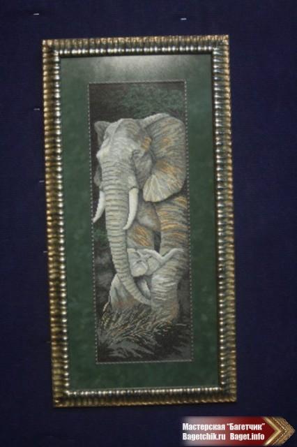 "Вышивка в багете ""Слон"""